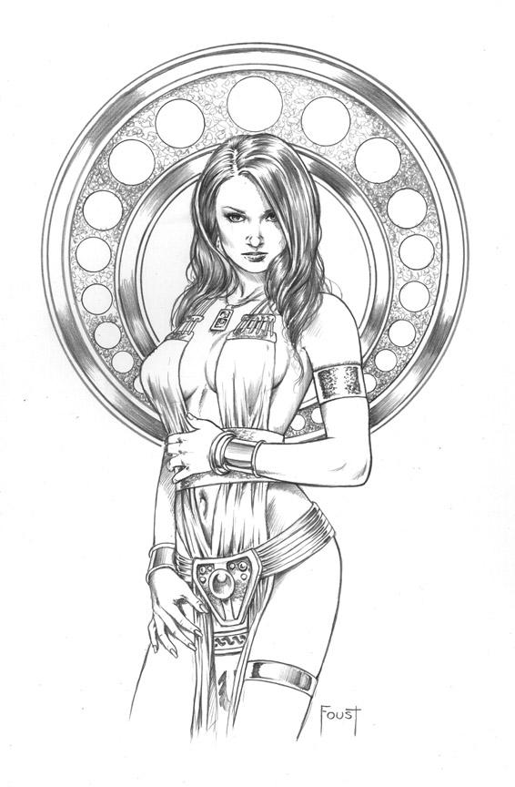 Priestess coloring #14, Download drawings