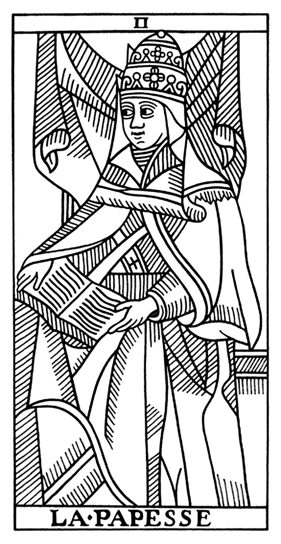 Priestess coloring #1, Download drawings