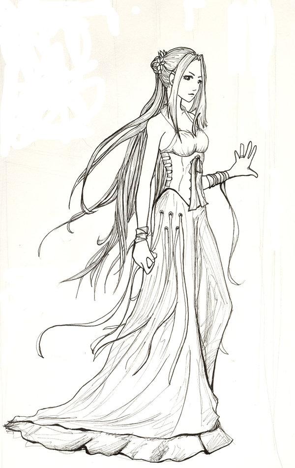 Priestess coloring #11, Download drawings