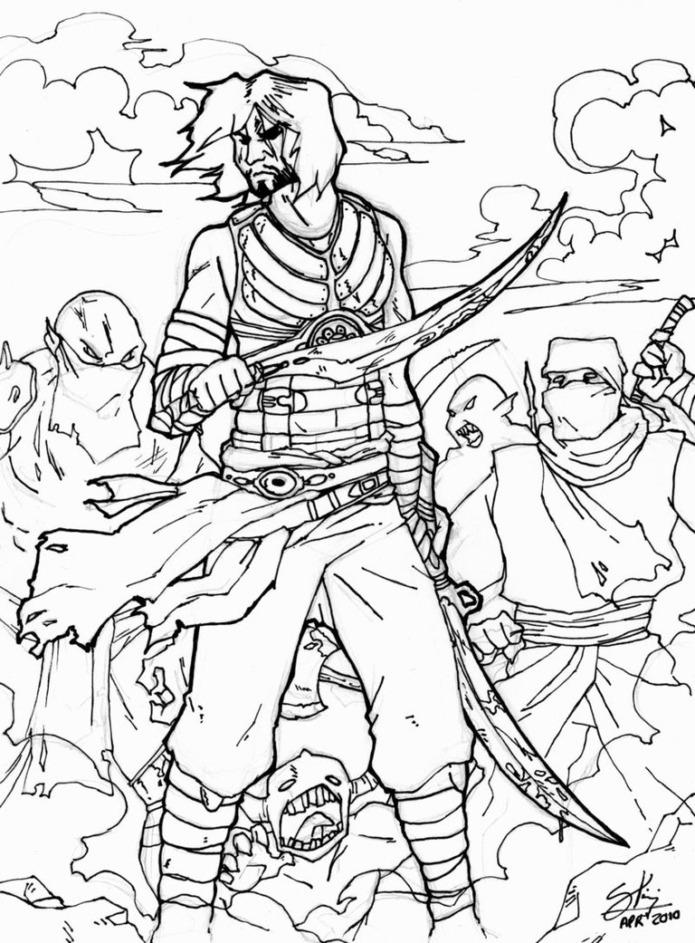 Prince Of Persia coloring #5, Download drawings
