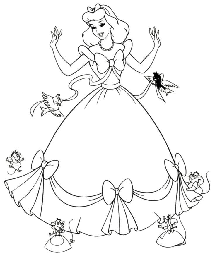 Princess coloring #20, Download drawings