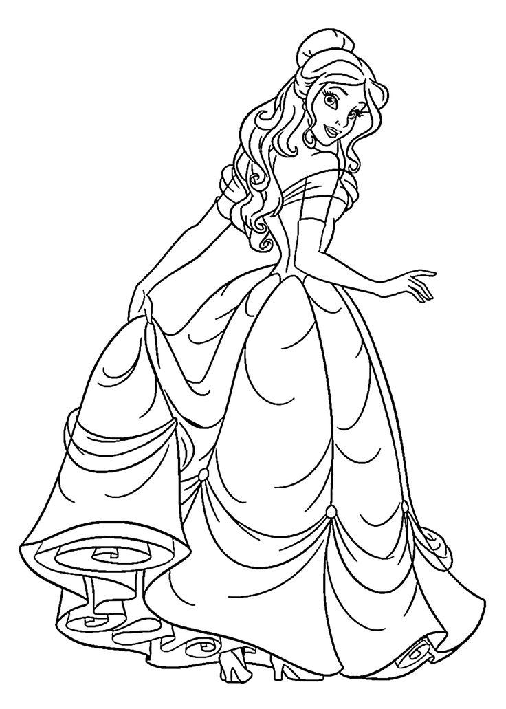 Princess coloring #13, Download drawings