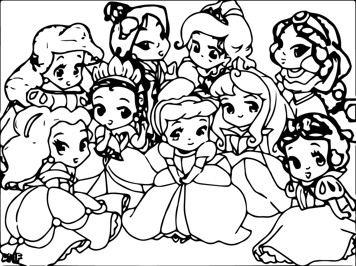 Princess coloring #1, Download drawings