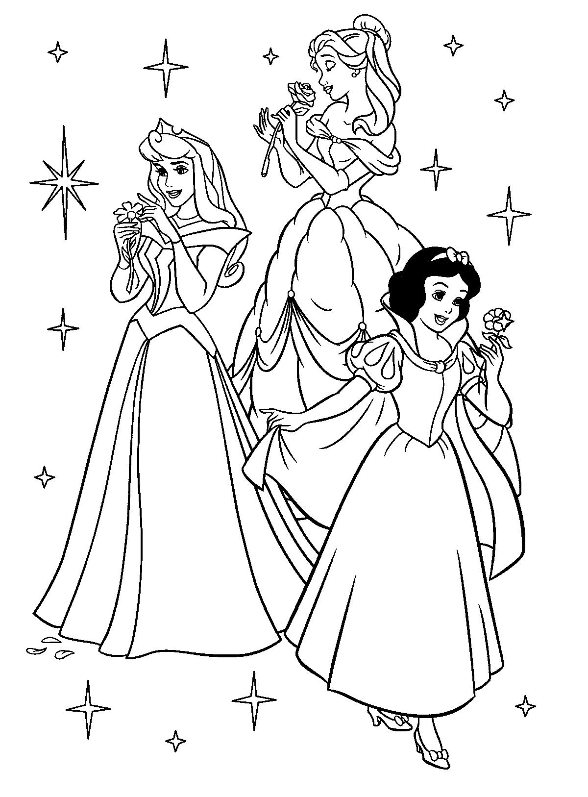 Princess coloring #11, Download drawings