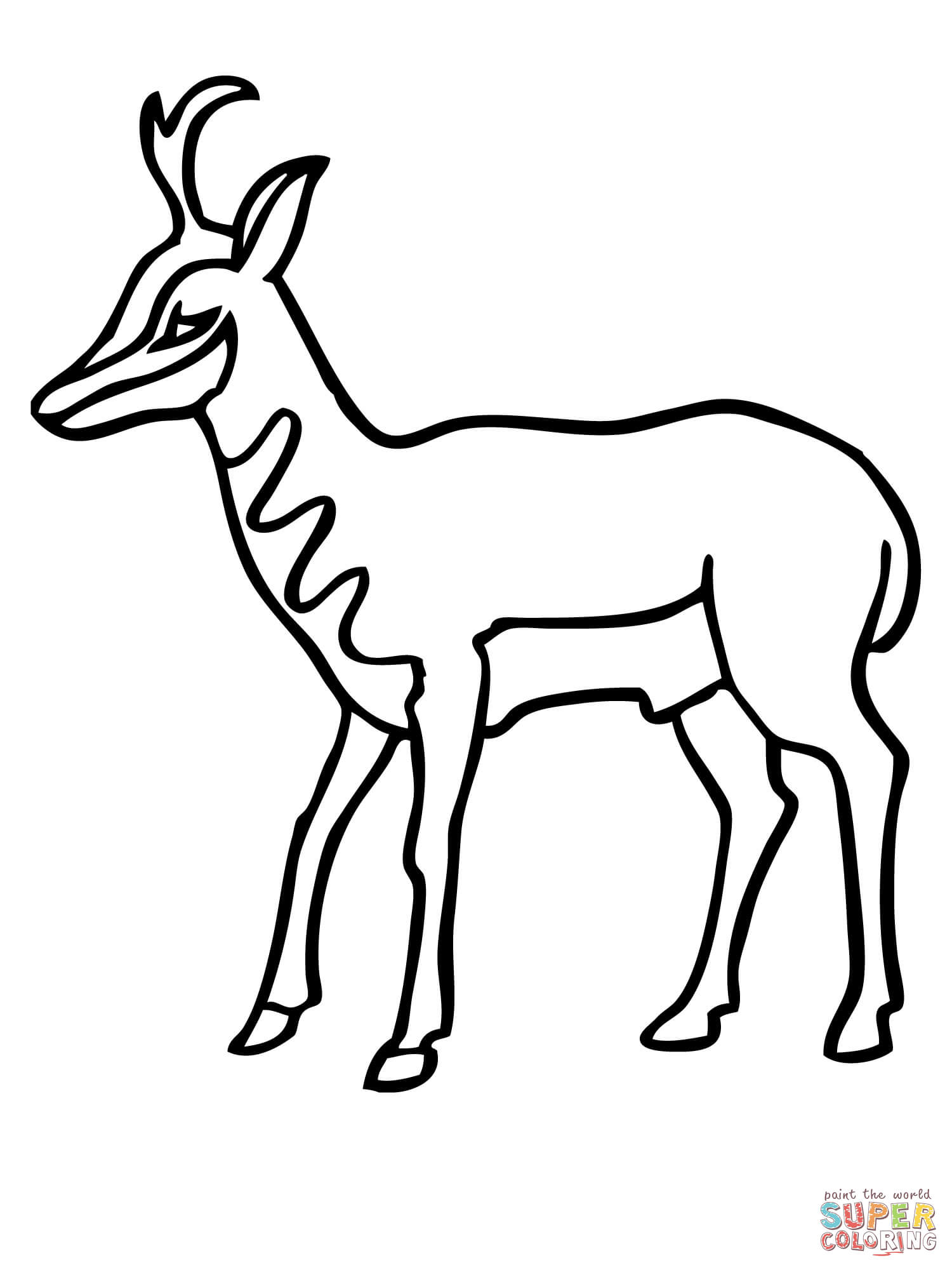 Pronghorn Antelope clipart #3, Download drawings