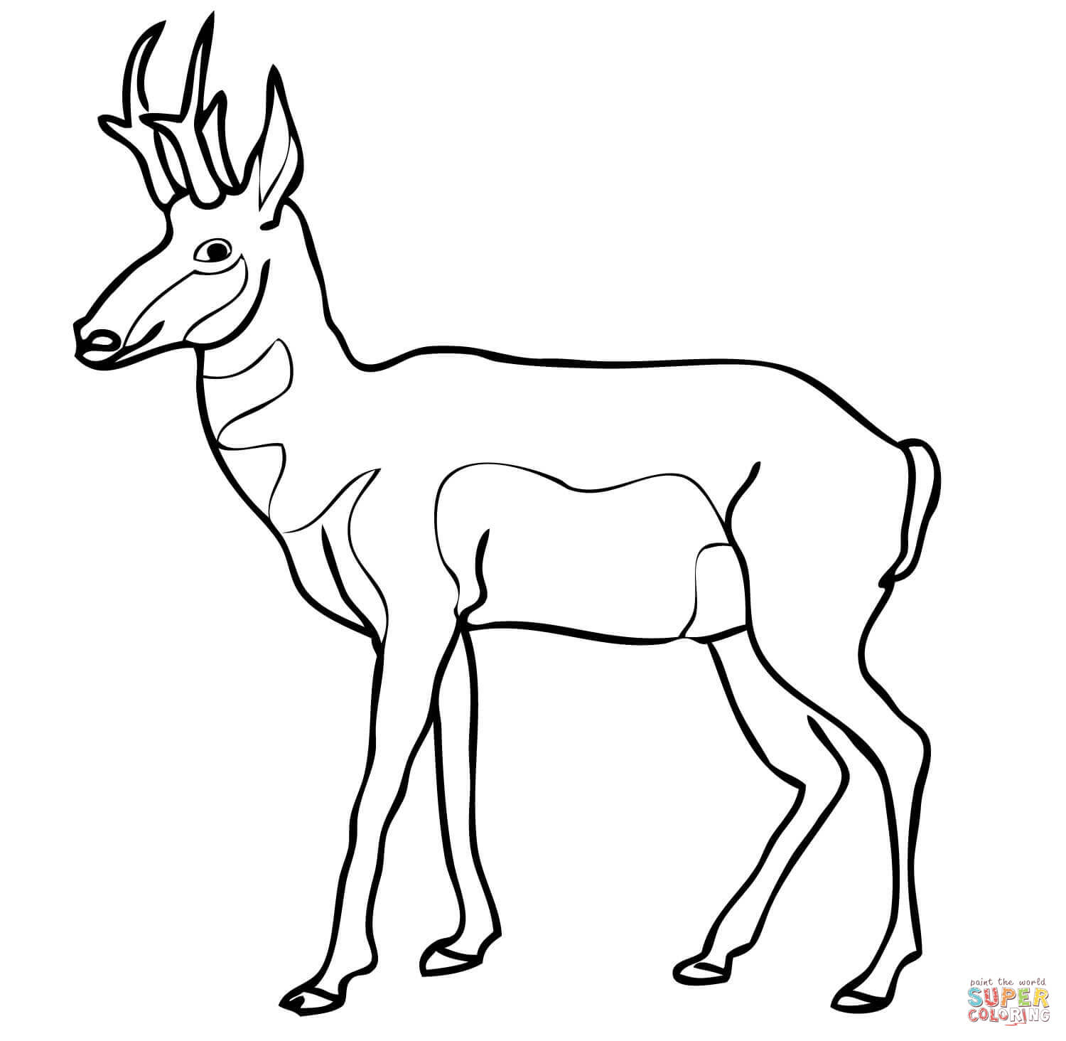 Pronghorn Antelope clipart #2, Download drawings