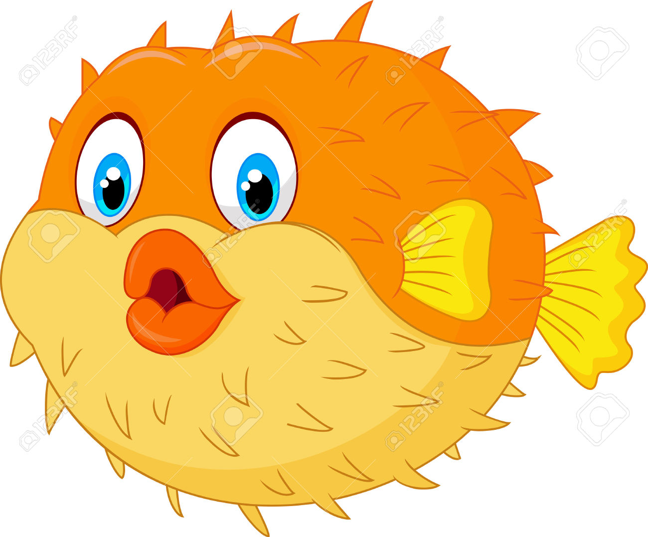 Pufferfish clipart #6, Download drawings