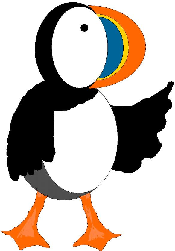Puffin clipart #18, Download drawings