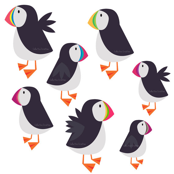 Puffin clipart #16, Download drawings