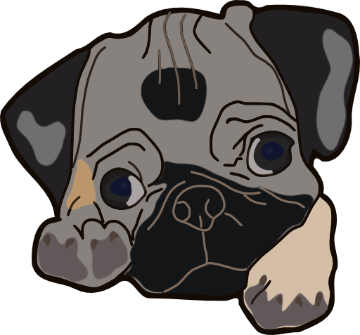 Pug clipart #10, Download drawings