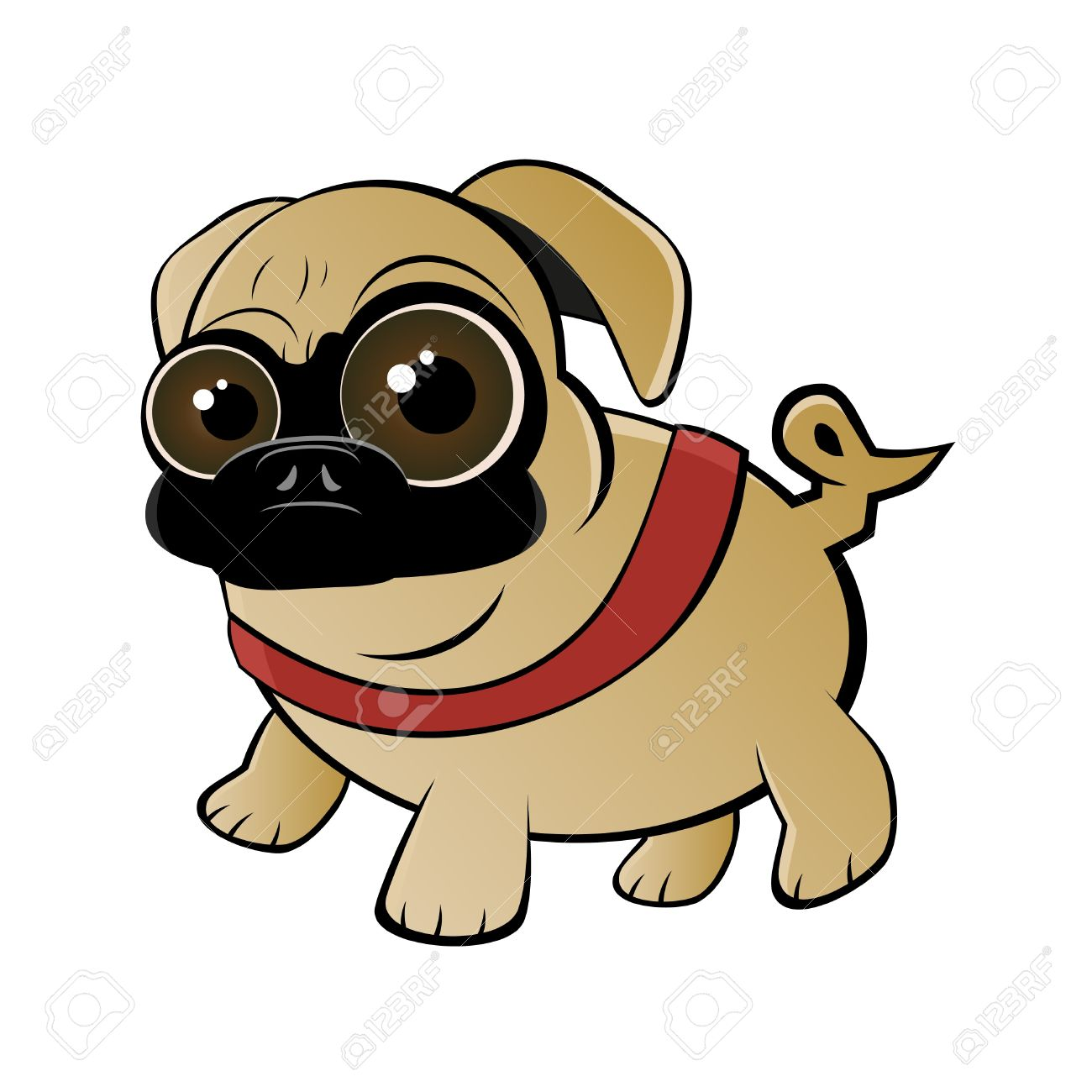 Pug clipart #2, Download drawings