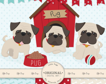 Pug clipart #1, Download drawings