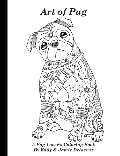 Pug coloring #15, Download drawings