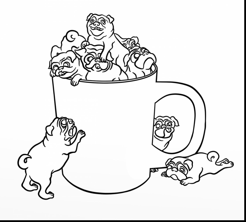 Pug coloring #7, Download drawings