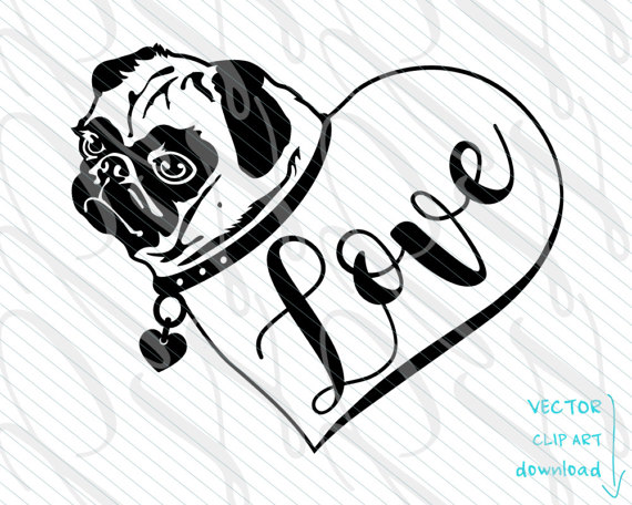 Pug svg #11, Download drawings