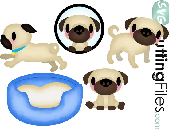 Pug svg #9, Download drawings