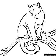 Puma coloring #12, Download drawings