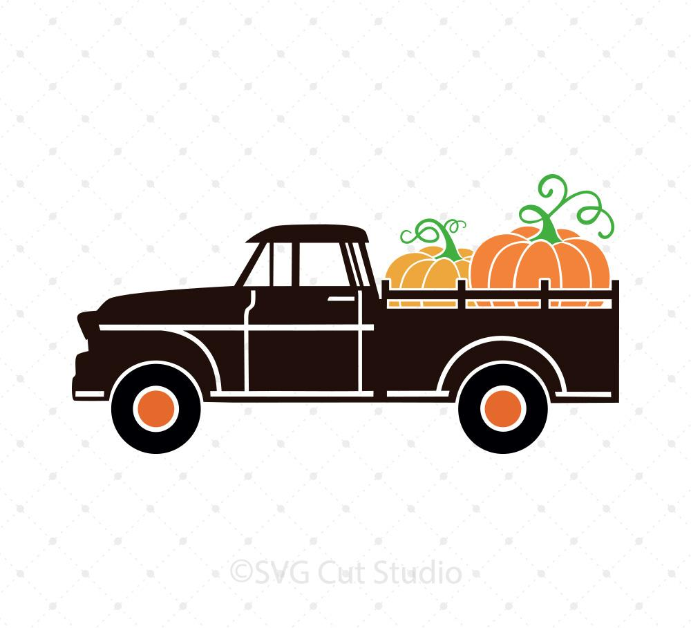pumpkin truck svg #805, Download drawings