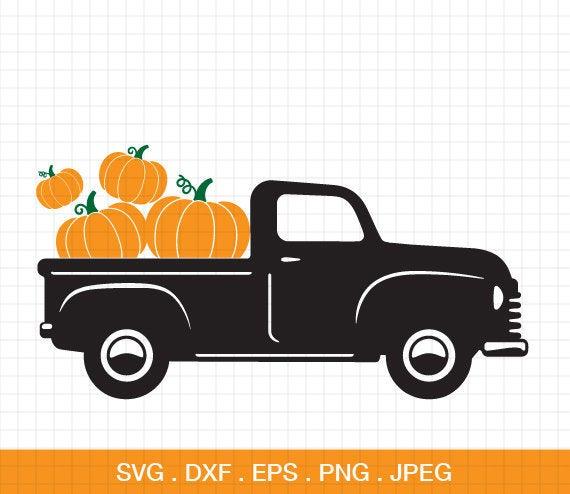 pumpkin truck svg #800, Download drawings