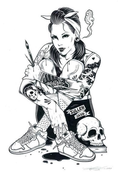 Punk coloring #8, Download drawings