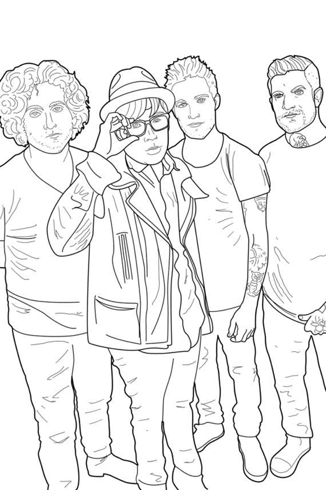 Punk coloring #2, Download drawings