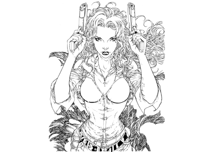 Punk coloring #5, Download drawings