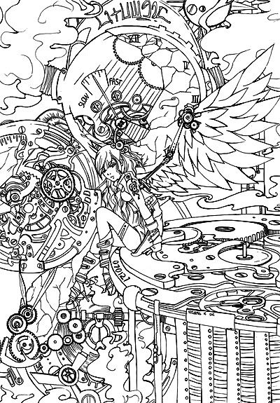 punk faries coloring pages - photo#40