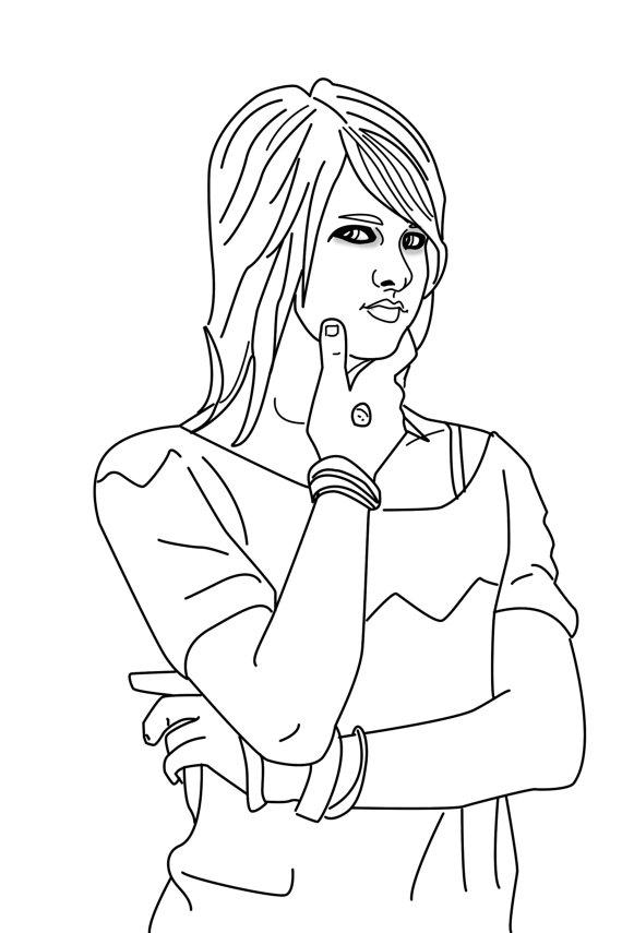 Punk coloring #15, Download drawings