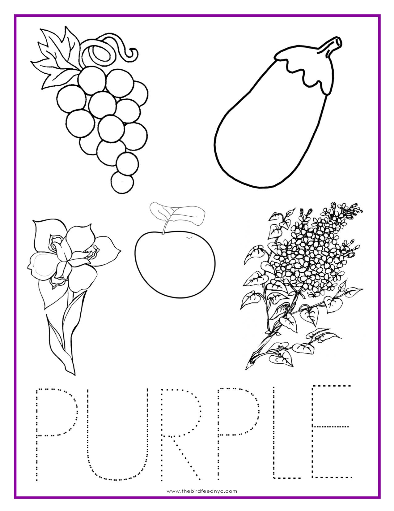 Purple coloring #12, Download drawings
