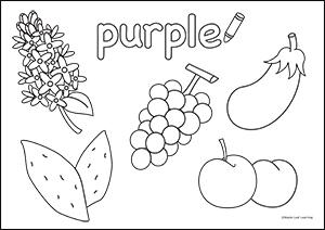 Purple coloring #17, Download drawings