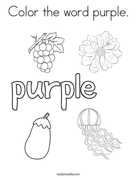 Purple coloring #16, Download drawings