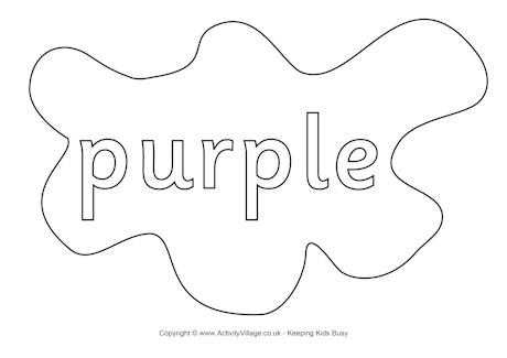 Purple coloring #7, Download drawings