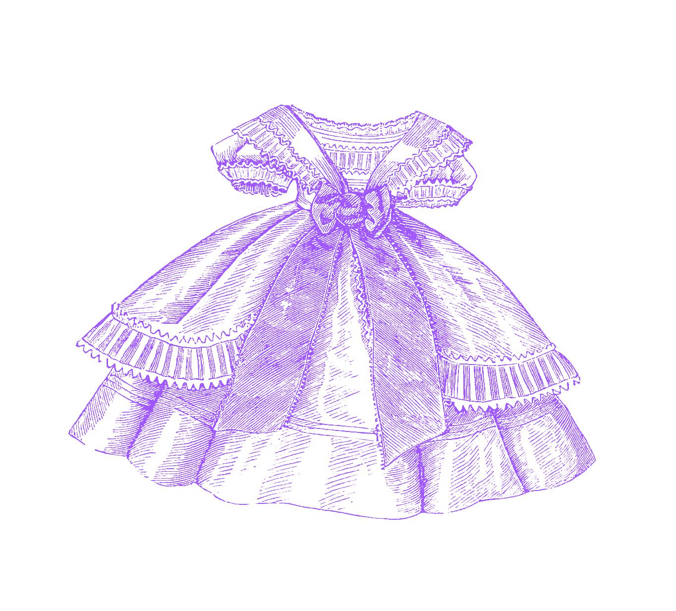 Purple Dress clipart #3, Download drawings