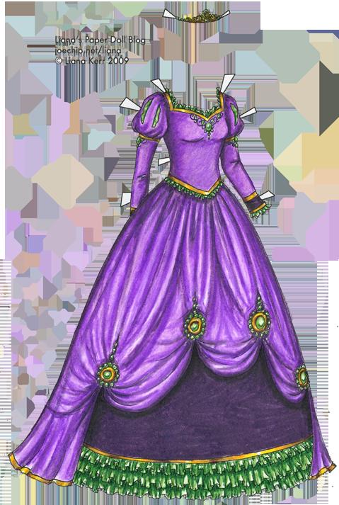 Purple Dress coloring, Download Purple Dress coloring for