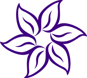 Purple Flower clipart #3, Download drawings