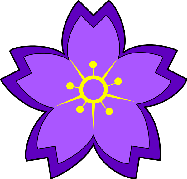 Purple Flower clipart #8, Download drawings