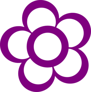 Purple Flower clipart #2, Download drawings