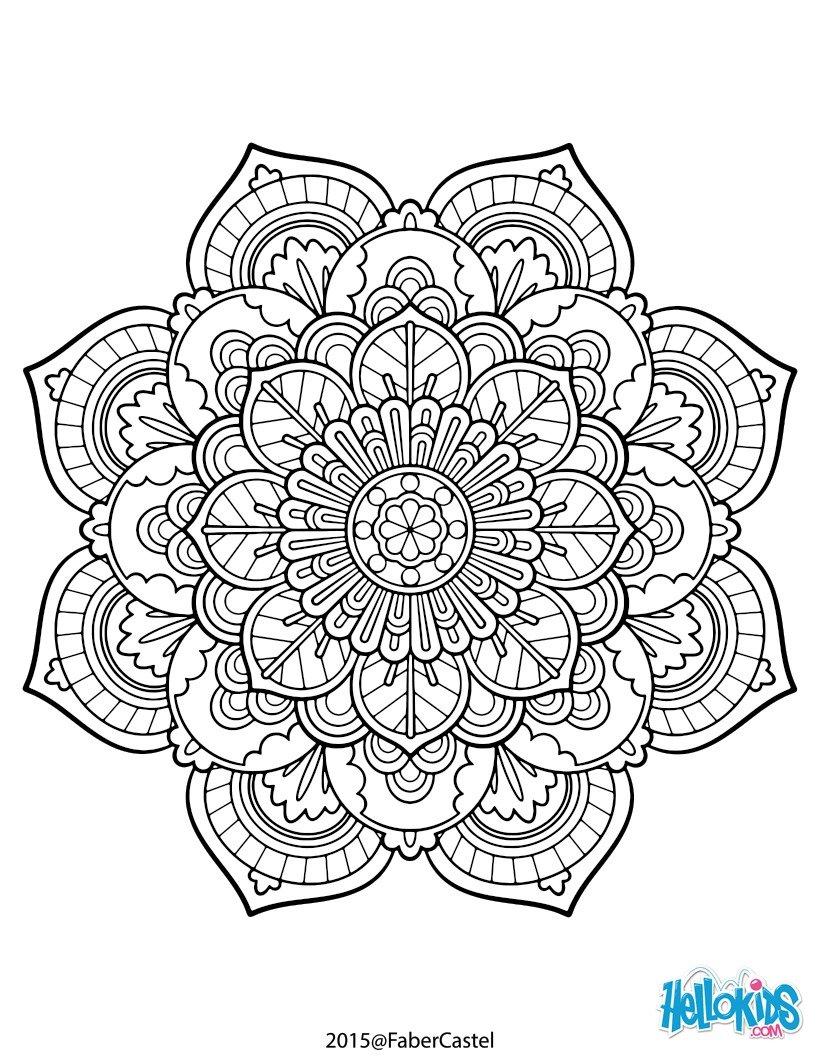 Purple Flower coloring #3, Download drawings