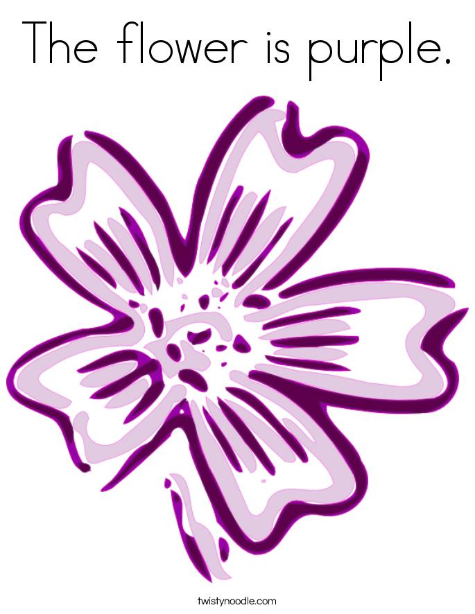 Purple Flower coloring #4, Download drawings