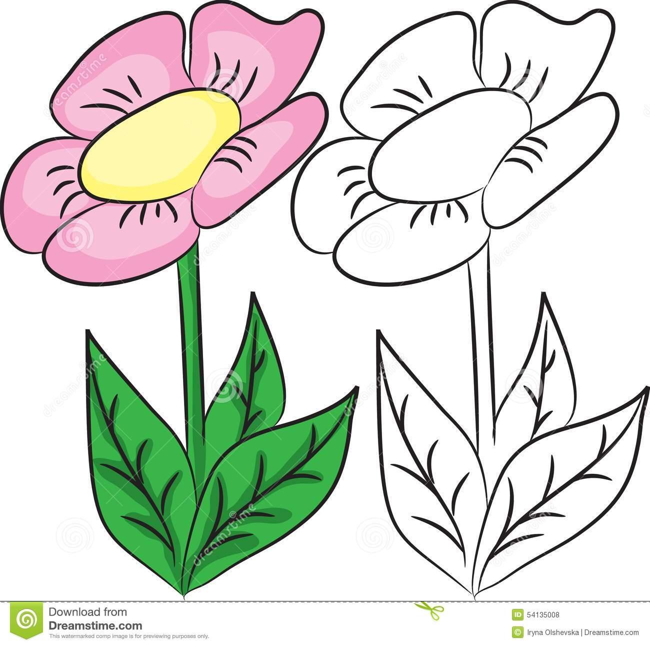 Purple Flower coloring #9, Download drawings