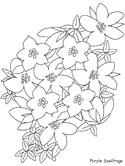 Purple Flower coloring #7, Download drawings