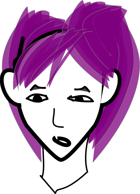 Purple Hair clipart #10, Download drawings