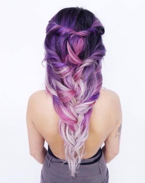Purple Hair coloring #10, Download drawings