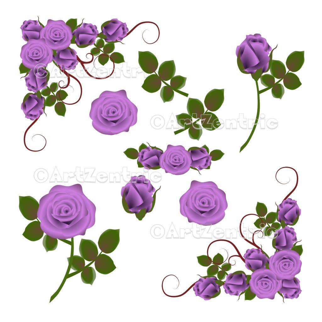 Purple Rose clipart #5, Download drawings