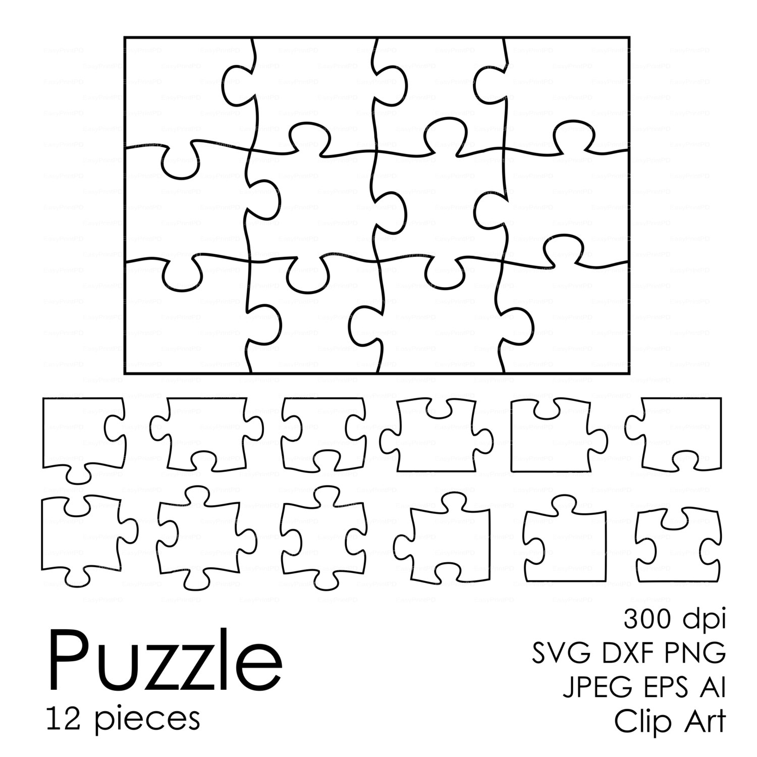 Puzzle svg #14, Download drawings