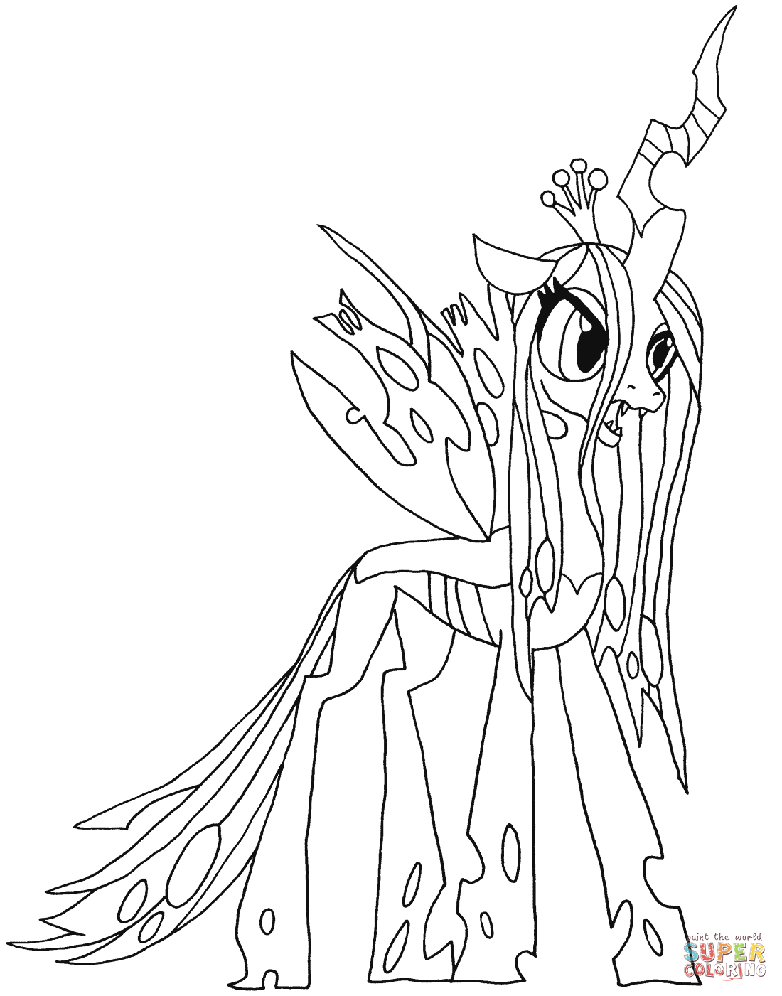 Queen Chrysalis coloring #8, Download drawings