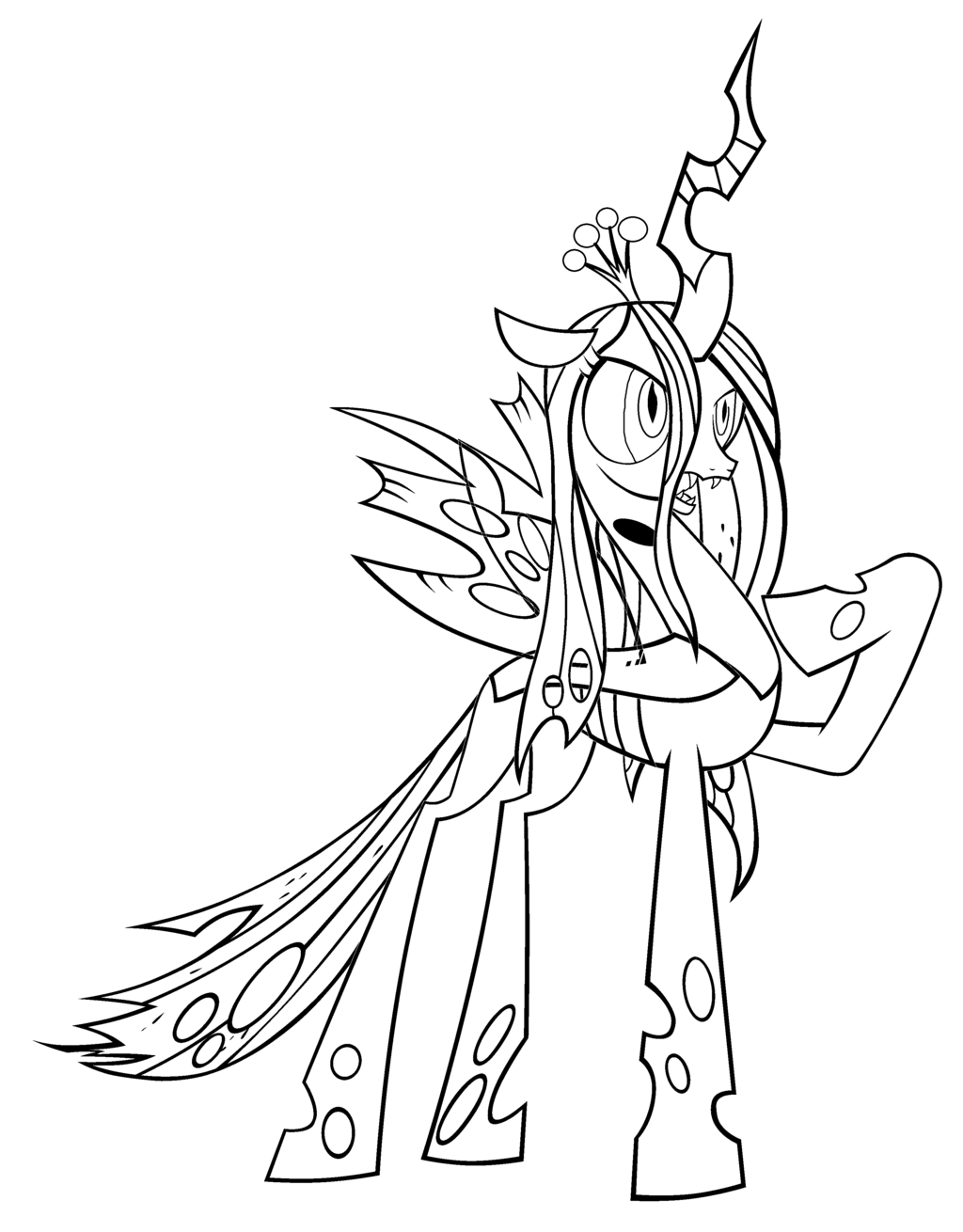 Queen Chrysalis coloring #13, Download drawings