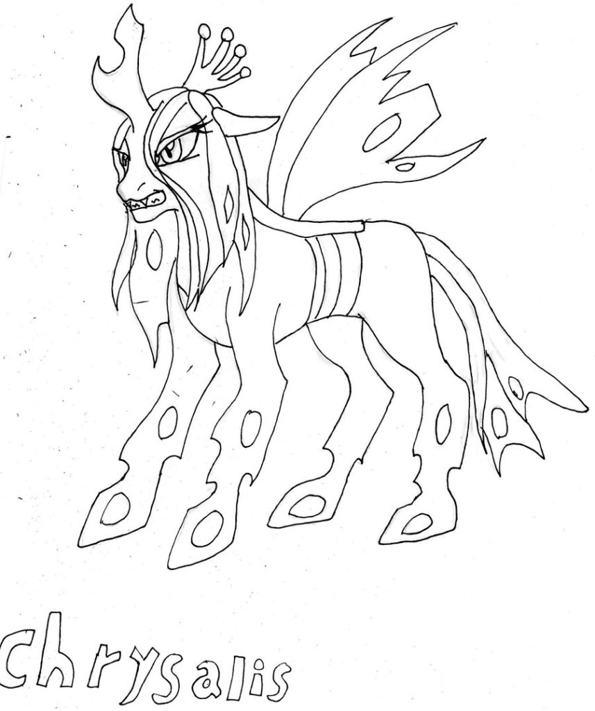 Queen Chrysalis coloring #14, Download drawings