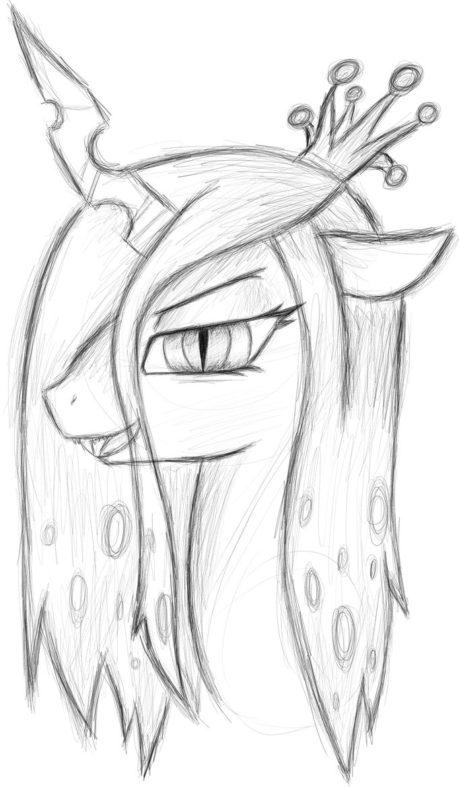 Queen Chrysalis coloring #5, Download drawings