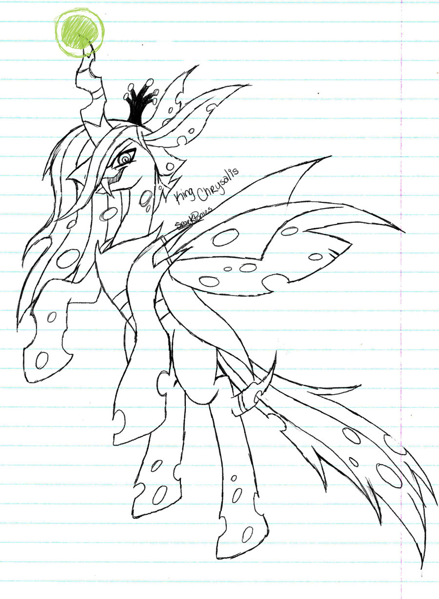 Queen Chrysalis coloring #18, Download drawings